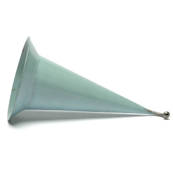 picture shows one piece ear trumpet @ EarTrumpets.co.uk